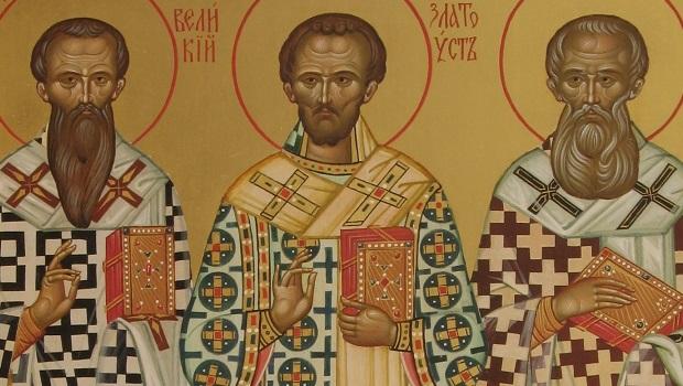 Moleben ke třem velkým arcibiskupům Bazilu Velikému, Řehoři Teologovi a Janu Zlatoústému